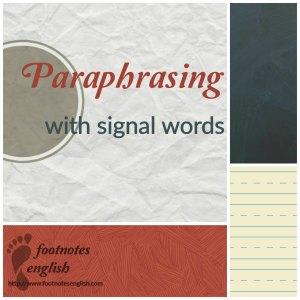 ParaphrasingwithSignalWords