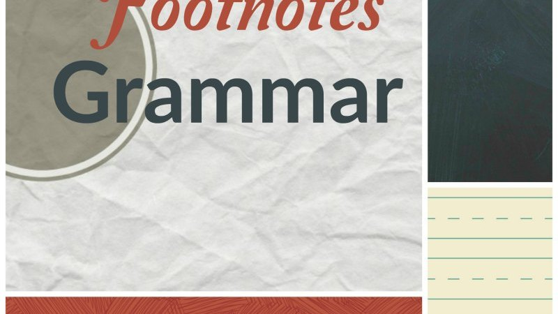 Footnotes Grammar