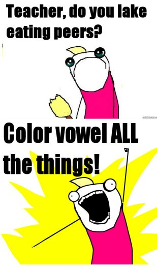 Color vowel ALL the things!