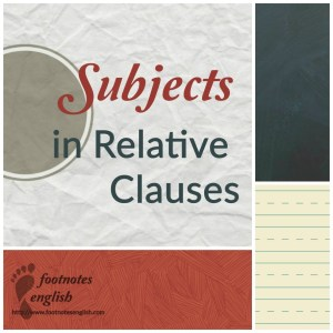 SubjectsRelativeClauses