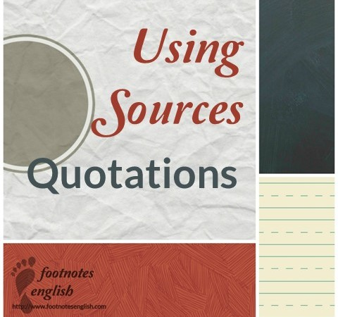 Using Sources in Quotations Guide for ESL students