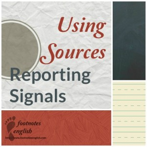 Using sources - Reporting Signals for ESL students