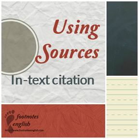 Using Sources In-text citation